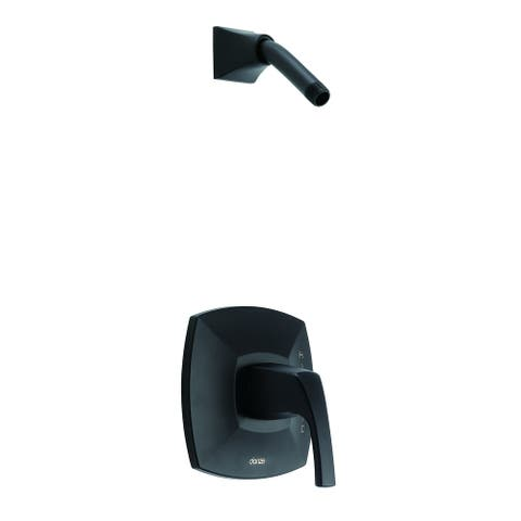 Gerber Vaughn 1H Shower Only Trim Kit & Treysta Cartridge Less Showerhead D500518LSBSTC Satin Black - Satin Black
