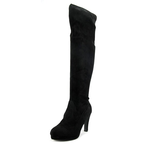 New Directions Lydia Round Toe Suede Over the Knee Boot