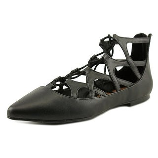 Mia Anamarie Women Pointed Toe Leather Black Flats