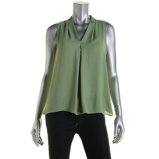 Vince Camuto Womens Crepe Sleeveless Blouse - M
