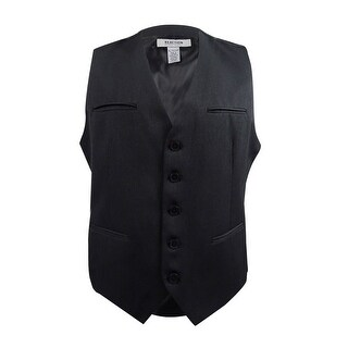 Kenneth Cole Reaction Men's Pocket Vest (XL, Black Combo) - black combo - XL