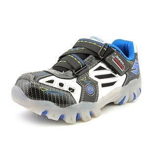 Skechers Night Lighters Youth Round Toe Synthetic Silver Sneakers