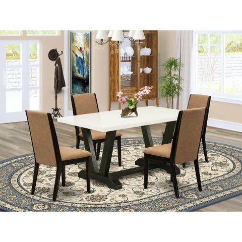 Amazing Dining Set Include Linen White Rectangular Table and Linen Fabric Dining Chairs (Number of Chair and Bench Option)