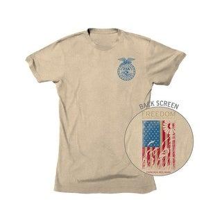 Farm Boy Western Shirt Mens Freedom FFA Short Sleeve Oatmeal F12003237