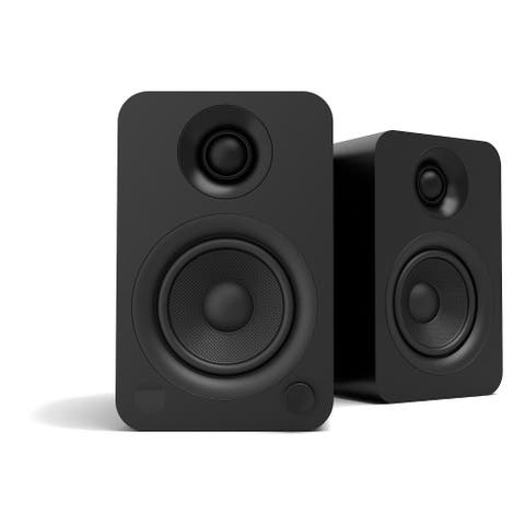 Kanto YU Powered Bookshelf Speaker with Bluetooth (Matte Black) - Pair - Black