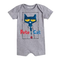 Pete The Cat  Frame With Button  - Infant Romper