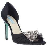 Blue by Betsey Johnson Gown Dress Sandals, Black
