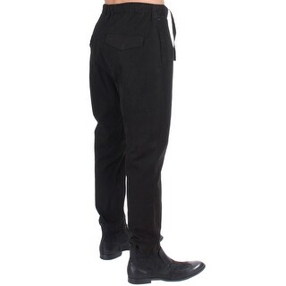 Costume National Costume National Black striped cotton stretch casual pants