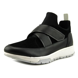 Calvin Klein Karsen Men Round Toe Leather Black Sneakers