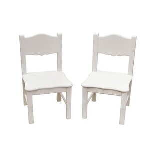 Guidecraft G85703 Classic White Extra Chairs