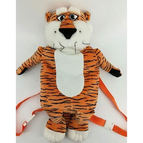 "14"" Orange and Black Auburn Plush Mascot Backpack"