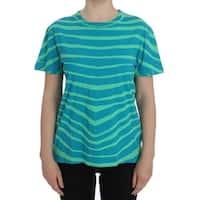 Balmain Blue Striped T-Shirt Top Blouse