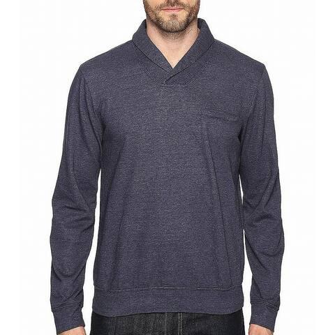 Splendid Mills Mens Sweater Navy Blue Size 2XL Shawl Collar Pullover