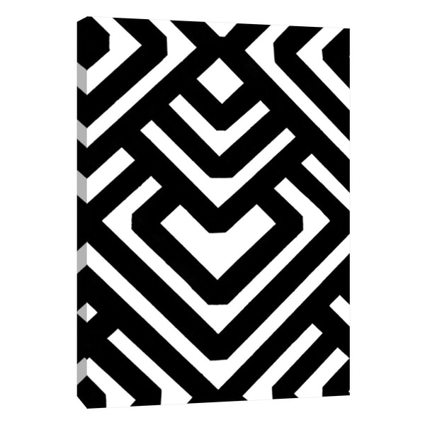 "PTM Images 9-105680 PTM Canvas Collection 10"" x 8"" - ""Monochrome Patterns 6"" Giclee Abstract Art Print on Canvas"