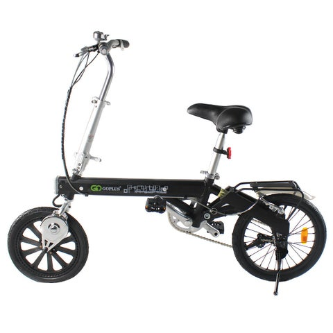 Costway 180W Lightweight Folding Electric Sporting Bicycle EBike Speed Lithium Battery