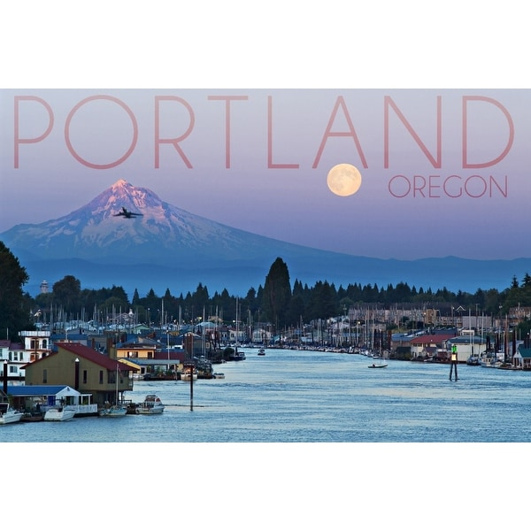 Portland Oregon Mt Hood With Purple Sky Water Lantern Press Photography Art Print Multiple Sizes Available Free Shipping On Orders Over