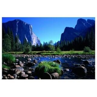 """Yosemite Valley in California"" Poster Print"