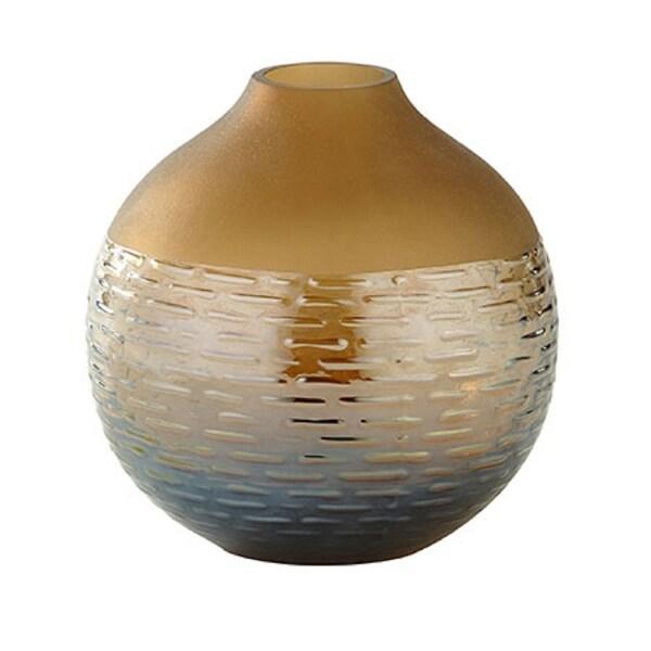 "6"" Brown Round Glass Flower Vase Tabletop Decor - N/A"