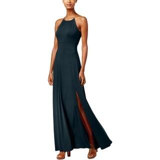 MICHAEL Michael Kors Womens Maxi Dress Chain Neck Halter - l