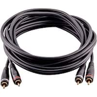 Seismic Audio 25 Foot Dual RCA Male to Dual RCA Male Audio Interconnect Cable - Home AV Cord