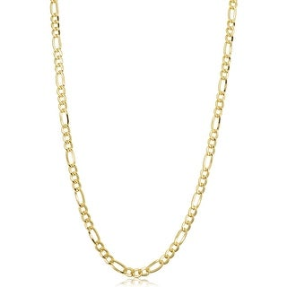 Link to 14k Yellow Gold-filled Solid Figaro Link Chain Necklace Similar Items in Earrings