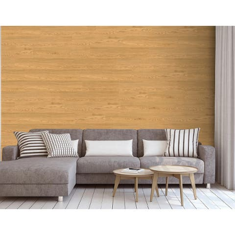 """Luxury Vinyl Wood Grain Sticker for Wall and Floor Use, 36""""x6""""/pc - 1Box"""