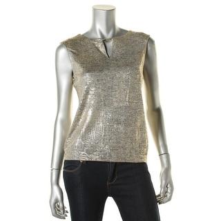 Calvin Klein Womens Shell Metallic Keyhole