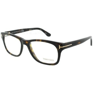 Tom Ford TF5147 052 52mm Dark Havana Brown/Tortoise Unisex Eyeglasses - Havana Brown - 52mm-17mm-145mm