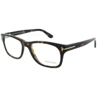 Tom Ford TF5147 052 52mm Dark Havana Brown/Tortoise Unisex Eyeglasses - Havana Brown - 52mm-17mm-145mm