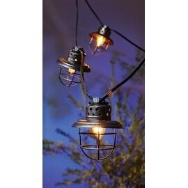 Living Accents 626GA111 C7 Fisher Lantern Light Set, 9', 10 Lights, Clear