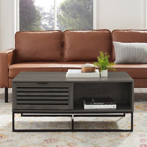 Strick & Bolton Hilla 42-inch Slat Door Coffee Table