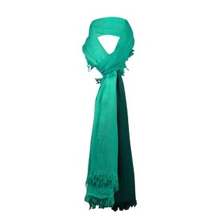 Style & Co. Women's Frayed Edge Ombre Wrap Scarf - green/teal