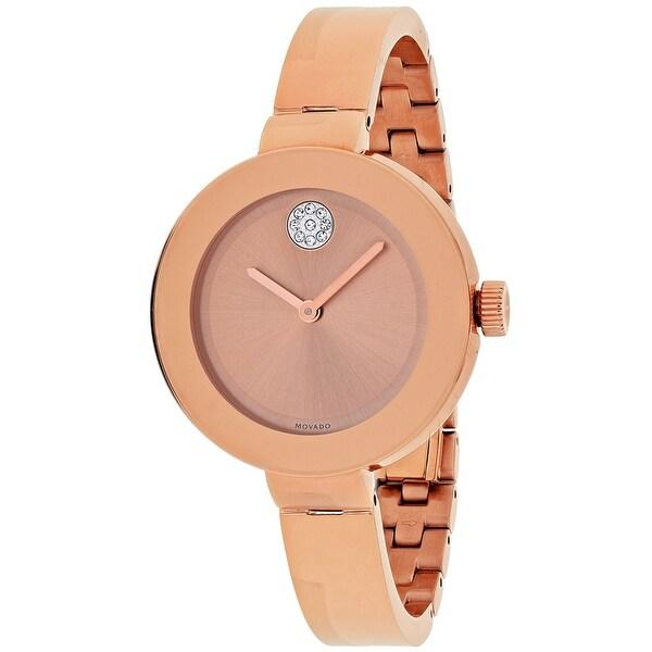 Movado Men's Bold 3600202 Rose-Tone Dial Watch