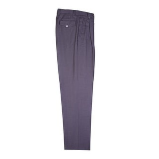 Gray Wide Leg Dress Pants Pure Wool by Tiglio Luxe