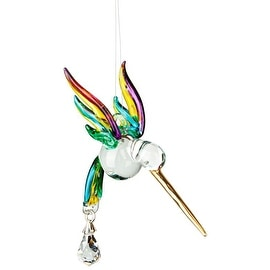 Fantasy Glass Hummingbird Rainbow Maker, Spring Pastels
