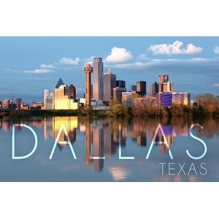 Dallas, TX - Skyline - LP Photography (Art Print - Multiple Sizes Available)