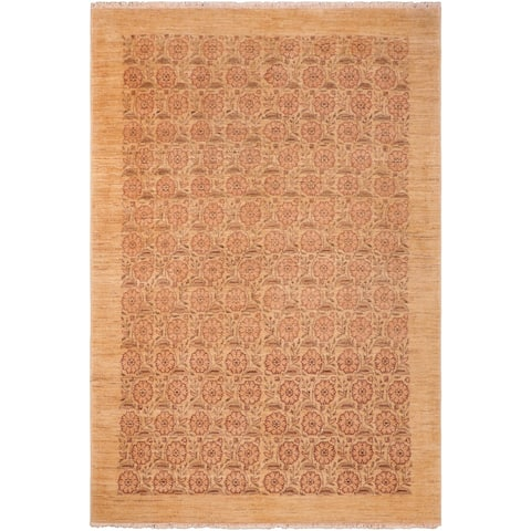 """Shabby Chic Ziegler Jacquali Hand Knotted Area Rug -6'2"""" x 9'2"""" - 6 ft. 2 in. X 9 ft. 2 in."""