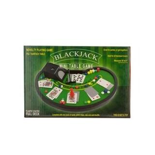 Kole Imports OS884-12 Blackjack Mini Table Game - Pack of 12