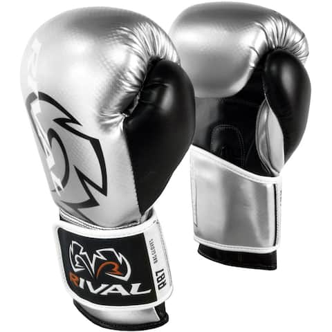 Rival Boxing RB7 Fitness+ Hook and Loop Bag Gloves - Silver/Black