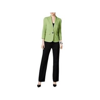 Le Suit Womens French Riviera Pant Suit Colorblock 2PC - 8