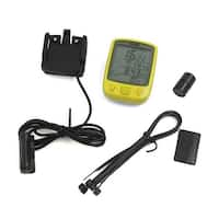 Bicycle Cycling Bike Wired LCD Backlight Computer Odometer Speedometer Yellow
