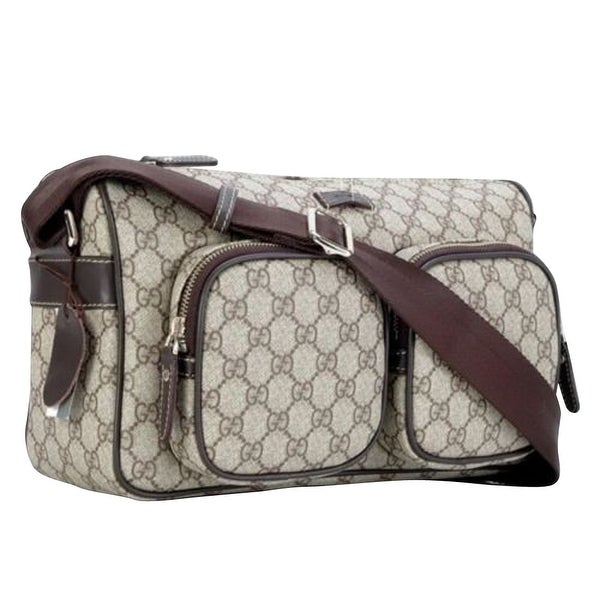 057d4ab02be0 Shop Gucci Men's GG Plus Beige/Ebony Canvas Shoulder Bag 246881 8588 ...
