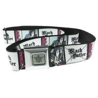 Black Butler Seatbelt Belt - Sebastian & Ciel Blocks-Holds Pants Up