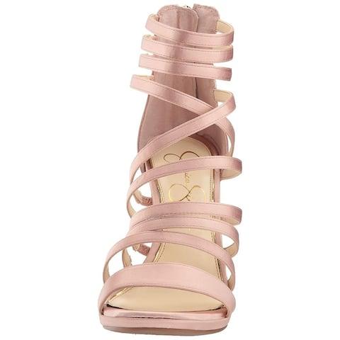 b9ccf1ae493 Jessica Simpson Womens JS-PALKAYA Open Toe Ankle Wrap Classic Pumps