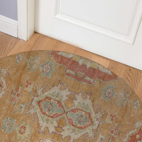 PESHAWAR RUST Indoor Floor Mat By Kavka Designs