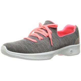Skechers Performance Women's Go Walk 4 A.D.C. All Day Comfort Walking Shoe, Gray/Pink, 5.5 M US
