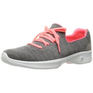 Skechers Performance Women's Go Walk 4 A.D.C. All Day Comfort Walking Shoe, Gray/Pink, 8.5 M US