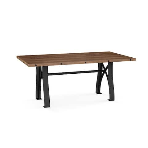 Amisco Sierra Extendable Dining Table with Distressed Solid Wood Top