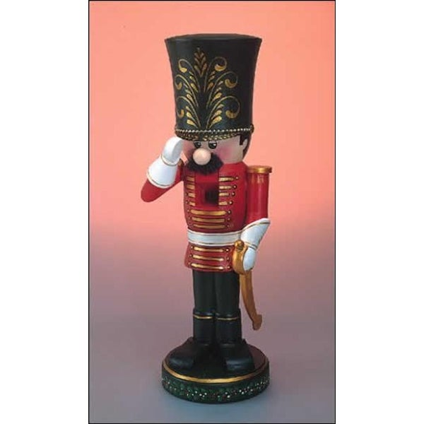 "11"" Zims Heirloom Collectibles The Cadet Christmas Nutcracker - RED"