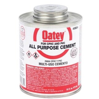 Oatey 30834 All-Purpose Cement, 16 Oz, Milky Clear